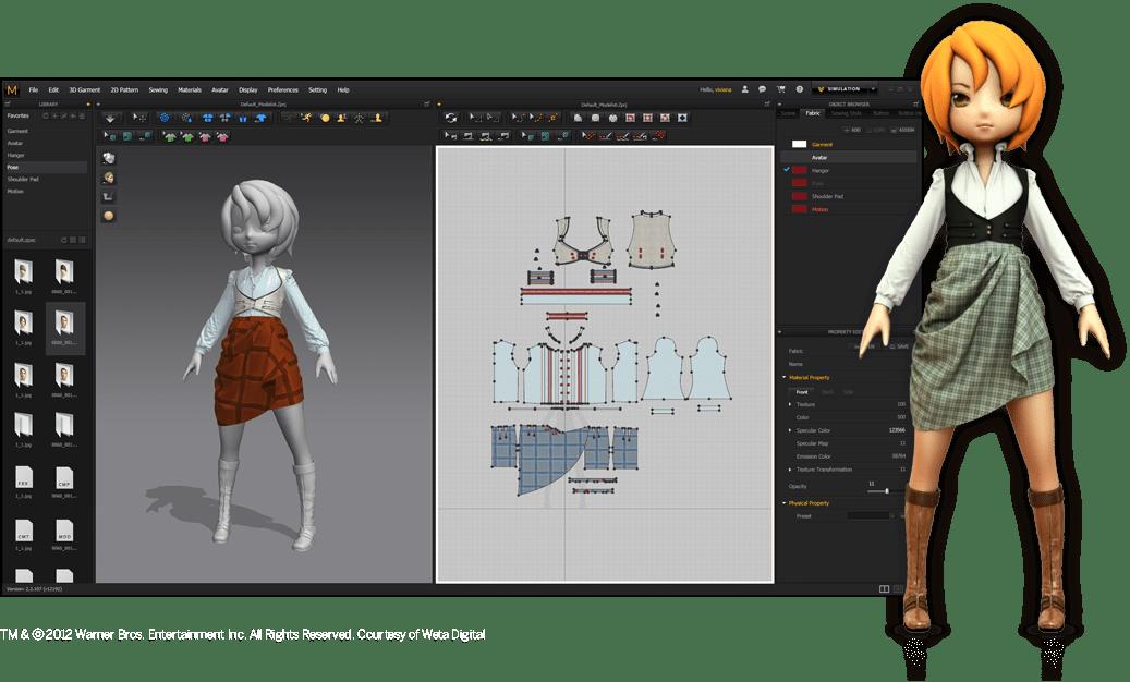 Marvelous Designer 7 v3.2 非常专业的三维布料服装设计软件 中文破解版